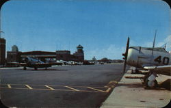 U.S. Naval Air Station - Flight Tower and Landing Apron