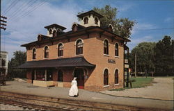 Illinois Central Railroad Depot Postcard