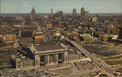 Union Station and Sky Line Postcard