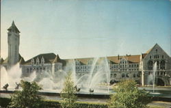 Union Station - Milles Fountain Postcard