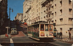 Street Scene With Tram Car in Foreground