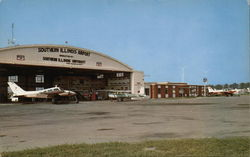 Ramp and Hanger, Southern Illinois Aiport Postcard