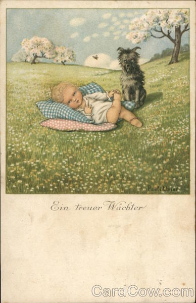 Ein Treuer Wachter - Dog Watches Over Sleeping Child