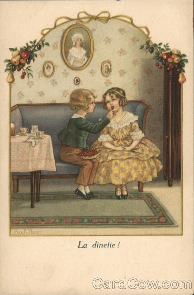 La Dinette! - Boy Feeding Girl Cherries Children