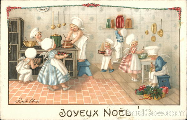 Joyeux Noel - Children Baking in Kitchen Pauli Ebner