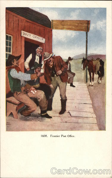 Frontier Post Office Cowboy Western