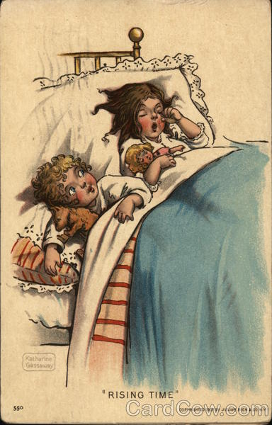 2 Children Waking up in Bed Rising Time Katherine Gassaway