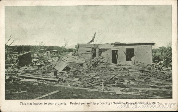 Photo of Home Destroyed By Tornado Advertising