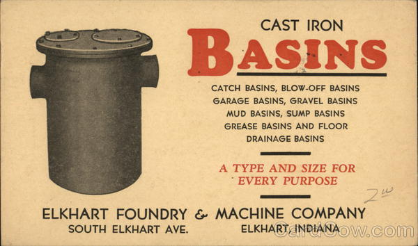 Advertisement from Elkhart Foundry & Machine Company