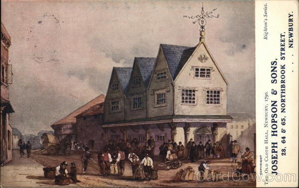 The Old Cloth Hall, Newbury, 1790 Advertising