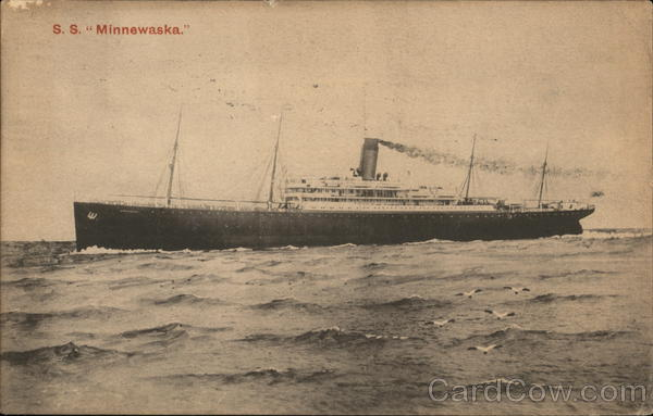 The S. S. Minnewaska at Sea. Boats, Ships