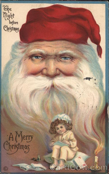 A Picture of Santa with a Young Girl Santa Claus