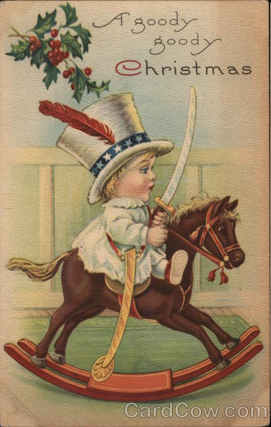 A Goody Goody Christmas - Child With Sword on Rocking Horse