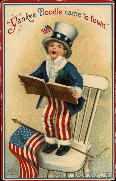 Yankee Doodle Came To Town - Boy Singing On Chair