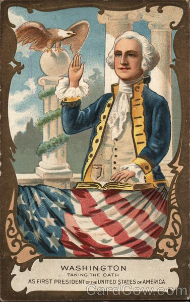 Painting of George Washington Being Sworn in as President