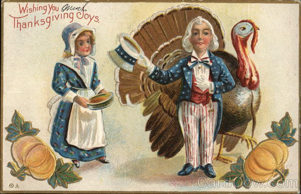 A Couple and a Turkey Patriotic