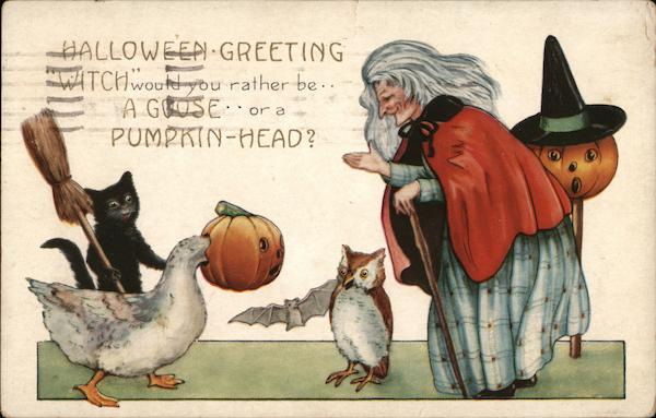 Witch Would You Rather Be...a Goose...or a Pumpkin Head?