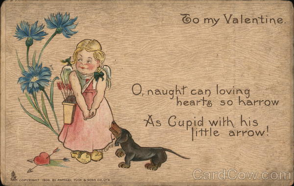 To my Valentine - A Young Girl and Her Dog Miscellaneous