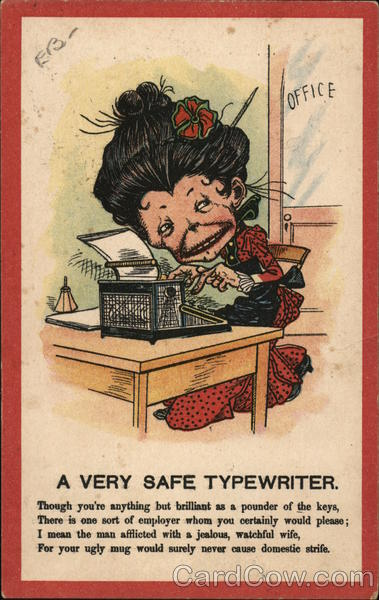 A Very Safe Typewriter Typewriters Caricatures
