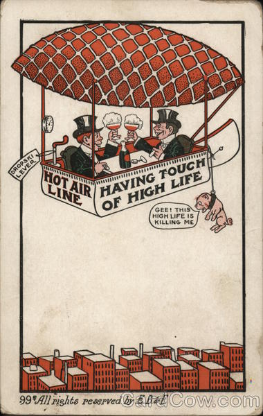 Hot Air Line - Having Touch Of High Life Advertising