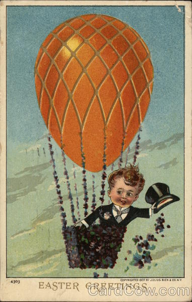 Boy in Hot Air Balloon With Children Hot Air Balloons