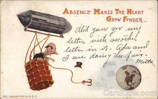 Absence Makes The Heart Grow Fonder M. S. P. Comic, Funny