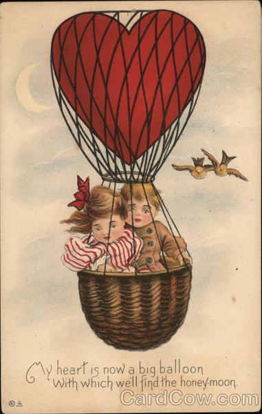 Two Young Kids in a Hot Air Balloon Romance & Love