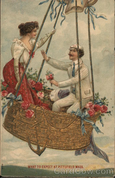 Picture of a Couple on a Hot Air Balloon Romance & Love
