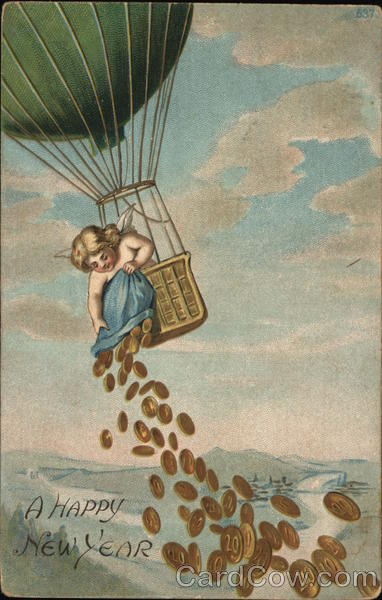 A Happy New Year Angels & Cherubs Hot Air Balloons