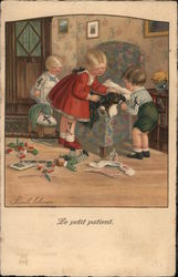 """Le Petit Patient"" - Children Caring for Sleeping Dog"