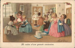 """Le Salon d'Une Grande Couturiere."" - Girls Playing Dress-Up"