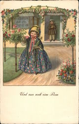Und Nun Noch Eine Rose - Girl Picking Rose, Boy in Doorway