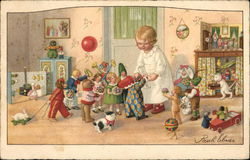 Dolls and Toys Giving Gifts to Child