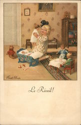 """Le Réveil!"" - Child Waking Doll from Crib"