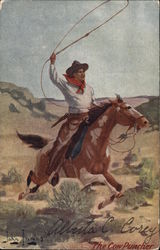 A Man on a Horse, Roping