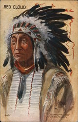 Red Cloud - Painting of an Indian