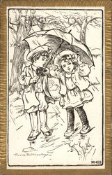 Sketch of Children in the Rain