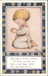 Small Child Kneeling and Praying