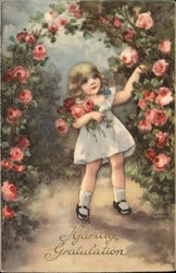 Girl Picking Roses