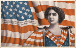 Liberty Woman with Flag in Background