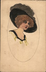 A Woman with a Big Hat