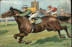 Two Horses in a Race