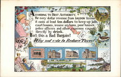 "Temperance Movement Card ""According To the Best Authority"""