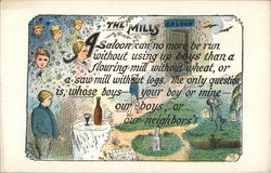"Card Promoting Temperance Entitled ""The Mills"""