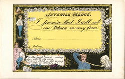 Juvenile Pledge To Not Use Tobacco with Anti-Tobacco Drawings