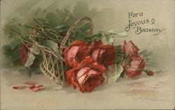 For a Joyous Birthday - A Picture of Red Roses -