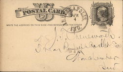 Postal Card from Indiana State Medical Society