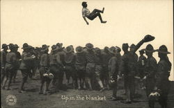 """Up In The Blanket"" - Man Being Tossed in Air by Soldiers"
