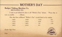 Correspondence/Order Card from Badger Talking Machine Co.
