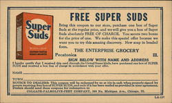 Advertisement for Free Super Suds